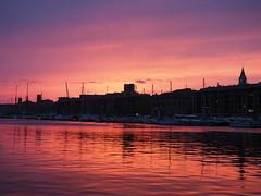 Bonne Nuit Marseille! (m_laRs_k) Tags: water crazytuesday backlight backlit ships sunset vieuxport tgv europe mediterranee france mlarsk