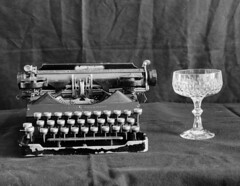 senta&crystal (philippnickerl) Tags: analogphotography analogfilm analogcamera foma stilllife stillshootfilm mamiyarb67 mamiyarb67pros istillshootfilm blackandwhite crystal champagne