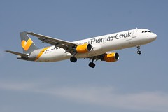 G-TCDX (IndiaEcho) Tags: gtcdx thomas cook airbus a321 london gatwick egkk lgw airport airfield crawley west sussex england canon eos 1000d civil aircraft aeroplaneaviation airliner approach landing sky 08