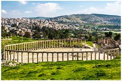 Jerash, Jordan (nickyt739) Tags: jerash jordan levant middleeast romanruins ancienthistory history flickrsbest panoramic colour colourful amateur photographer landscape nature green bluesky