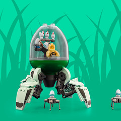 Mech Monday #16: Egg to the Future (roΙΙi) Tags: mechmonday mech easter egg eggs duplo drone drones lego afol moc