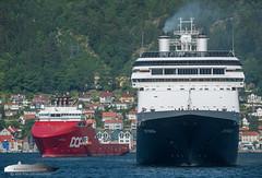 Skandi Vega & Rotterdam (Aviation & Maritime) Tags: skandivega dof dofmanagement ahts ahtug anchorhandlingtugsupply anchorhandling tug supply offshore rotterdam hal hollandamericaline cruiseship cruise bergen norway