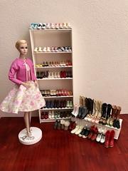 Poppy is presenting The Momoko shoe collection Monday, April 22, 2019 (jenniffervalverde) Tags: poppyparker barbie momoko bigeyes doll diorama