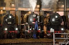 BR 58 511 & BR 03 2155-4 (giver40 - Sergi) Tags: dresden dampflok steamlocomotive locomotora de vaporrotonda vapor steam nocturna dampfloktreffen sajonia drehscheibe