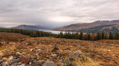 Road trippin... In Scotland (Lee Harris Photography) Tags: landscape sky clouds mountains snowcapped outdoor contrast foliage trees water loch scotland nikon nikond7200 uk orange colourful rugged