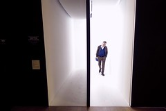 """Came back haunted"" - Milano 2019 (Andrea Comino 22:20) Tags: blue man art urban installation contemporaryart museum streetphotographer streetphotography street city italy italia milan milano"