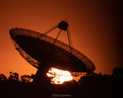 "Sunset at ""The Dish"" (Doug Ingram) Tags: dubbo parkes silhouette sunset csiro radiotelescope astronomy australia science research"
