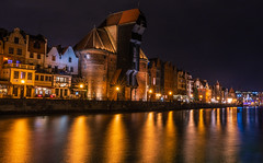 Gdansk at night (Vagelis Pikoulas) Tags: gdansk europe poland travel sigma art architecture 35mm f14 view landscape sea seascape reflection reflections canon 6d april spring 2019