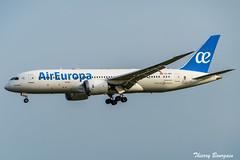 "[ORY] AirEuropa ""Julio Iglesias Sticker"" Boeing 787-800 Dreamliner _ EC-MIH (thibou1) Tags: thierrybourgain ory lfpo orly spotting aircraft airplane nikon d810 tamron sigma aireuropa nickyjamxjbalvinslivery livery boeing boeing787 b787 b7878 b787800 b788 dreamliner ecmih madrisbajaras julioiglesias"