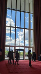 20190421_184816_Kennedy_Center (Stephenie DeKouadio) Tags: washington washingtondc dc dcphotos dcurban urban urbandc architecture people silhouette clouds sky window