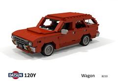 Datsun 120Y Wagon (B210 - 1973) (lego911) Tags: datsun 120y sunny b210 wagon estate 1973 1970s classic jdm japanese japan auto car moc model miniland lego lego911 ldd render cad povray afol foitsop