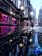 Macy's NYC (nickdifi) Tags: nyc building architecture weather reflection rain streets