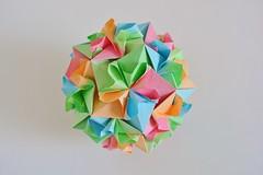 Nicea Kusudama (Byriah Loper) (Byriah Loper) Tags: kusudama paperfolding paper polygon polyhedron byriahloper byriah origami origamimodular modularorigami modular