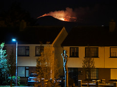 Fire in them there hills (turgidson) Tags: panasonic lumix dmc g7 panasoniclumixdmcg7 panasonicg7 micro four thirds microfourthirds m43 g lumixg mirrorless x vario 35100mm 35100 f28 hhs35100 telephoto zoom lens panasonic35100 panasoniclumixgxvario35100mmf28 silkypix developer studio pro 9 silkypixdeveloperstudiopro9 raw fire hills mountains wicklow ireland bray gorse spring april p1290753 smoke suburbs houses semi detached