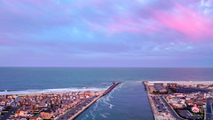 A Cotton Candy Sky over the Atlantic Ocean and Manasquan Beach on Easter. (apardavila) Tags: atlanticocean cottoncandysky djimavic2pro easter jerseyshore manasquan manasquanbeach pointpleasantbeach aerial clouds drone dronephoto dronephotography quadcopter sky sunset
