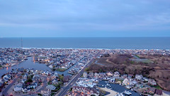 Manasquan and the Atlantic Ocean at dusk, captured by a DJI Mavic 2 Pro. (apardavila) Tags: atlanticocean djimavic2pro jerseyshore manasquan manasquanbeach aerial clouds drone dronephoto dronephotography dusk duskphoto duskphotography quadcopter sky