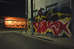 Jesse & Myers at night (ADMurr) Tags: la eastside night grafitti loading dock leica m240 50mm summicron m0004429