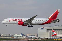 Avianca - Boeing 787-8 Dreamliner N792AV @ London Heathrow (Shaun Grist) Tags: n792av avianca boeing 787 7878 dreamliner shaungrist lhr egll london londonheathrow heathrow airport aircraft aviation aeroplanes airline avgeek landing 27l