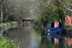 Basingstoke Canal Ash Vale - Ash 15 April 2019 009 (paul_appleyard) Tags: basingstoke canal ash vale surrey boat reflections reflected april 2019
