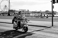 Vespa (Cycling-Road-Hog) Tags: blackwhite blackpool candid canoneos750d citylife colour efs55250mmf456isstm england monochrome people places street streetphotography streetportrait urban