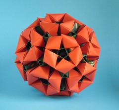 Raspberry (valya_mina) Tags: оригами кусудама модульноеоригами origami kusudama modularorigami origamimodular denverlawson foldedbyvalentinaminayeva