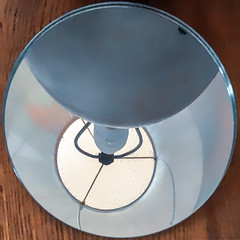Under the Lamp (Timothy Valentine) Tags: 0419 mirror reflection lamp 2019 home squaredcircle eastbridgewater massachusetts unitedstatesofamerica
