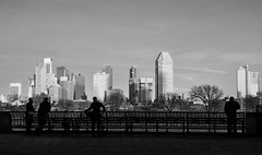 Evening Approaches (Kenneth Laurence Neal) Tags: urban street streetphotography eastriver longislandcity blackandwhite blackdiamond monochrome monotone contrast evening nikon nikond7100 sigma1550mm28 lowlight silhouette