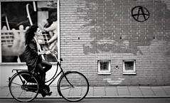 Biking in Amsterdam B/W Edit (Alex88 - Thanks for 120 Million Views) Tags: amsterdam bikes bicycle street urban city wheels art