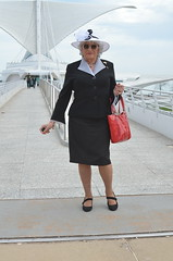 Spreading My Wings (Laurette Victoria) Tags: calatrava downtown milwaukee suit hat purse sunglasses silver laurette woman easter