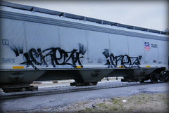 (timetomakethepasta) Tags: crez freight train graffiti art grainer hopper union pacific