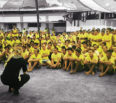 Ruth Woroniecki Speaking In Manila Prison (MichaelWoroniecki) Tags: