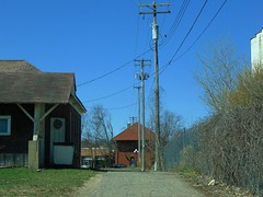 Alley wires and poles (novice09) Tags: redwing alley poles wires depot