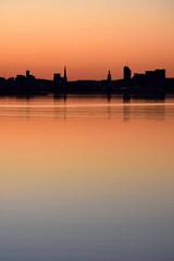 Sky & Lines (Minding the Moment) Tags: sunset twilight silhouette västerås skyline mälaren björnön orange