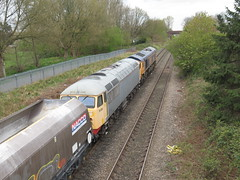 66767 & 56081 (Trainsurfers) Tags: car grass tree walking new old art leaves stones railways uk metal man machine nature earth planet flickr photography water tracks lines england trainspotter trainspotting colours location trains fence weather concrete driver landscape people outside vehicle british railway picture road railroad train sky rail day diesel locomotive hazard windshield peak forest class66 railfreight freight gb 4m10 doncaster down decoy 66767 56081 14042019 stelfox audenshaw manchester lancashire tameside
