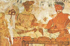 Marriage Fresco of couple dining from the Tomb of the shields in Tarquinia WM 1200X800 (mharrsch) Tags: ancient roman marriage couple dining feasting eating tomb fresco etruscan