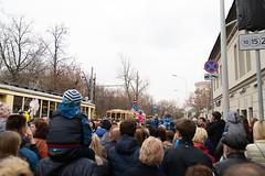 Tram parade (Andrey Sklyarenko) Tags: moscow russia tramparade tram москва парадтрамваев россия чистыепруды трава трамвай