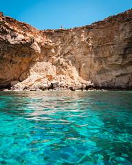 Colours of Malta (lajosmarkus) Tags: comino malta maltese sea color blue water lagoon amazing colorful couple rock height