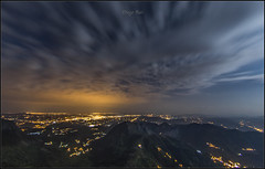 Monsacro. (Diego Rai) Tags: night noche oviedo nubes clouds nightscape nocturna asturias luna moon moonlight lights city spain