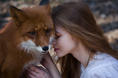 foxes (Melodyphoto3) Tags: photo photography art artphoto fineart fox forest bokeh girl magic light