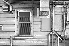 North Beach Alley (sswj) Tags: monochrome blackandwhite bw availablelight existinglight composition alley northbeach sanfrancisco northerncalifornia dslr fullframe nikon d600 nikkor28300mm scottjohnson architecture architecturaldetail california streetphotography abstractreality