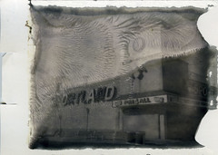 Sportland - New55 print (thereisnocat) Tags: new55 speedgraphic instant roidweek roidweek2019 boardwalk arcade sportland fun4all oceancity maryland md positive