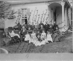 Family Dietrich  009 John Rudolph and Elizabeth Dietrich & family.  6 little girls in front not identified.  see next pictures