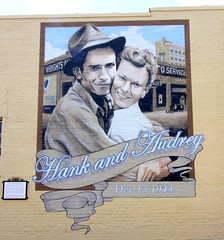 Wedding of Hank and Audrey Williams Mural - Andalusia, AL (SeeMidTN.com (aka Brent)) Tags: andalusia al alabama covingtoncounty weshardin mural 1944 hankwilliams hankwilliamssr audreywilliams wedding marriage countrymusic bmok