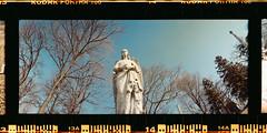 Green-Wood Cemetary (Evan F. Garcia) Tags: widelux wideluxf7 35mm analog vintagecamera panorama wideangle cemetary brooklyn new york portra160 kodakportra kodakfilm