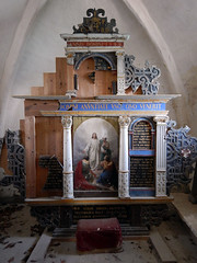 Church altar at Stevns Klint in Denmark (albatz) Tags: denmark church altar interior chalkcliffs stevnsklint edge ocean