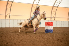 Anne (wysharp) Tags: barrelracing cowgirl horse