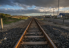 Oamaru Line (RP Major) Tags: oamaru new zealand nz train line clouds olympus