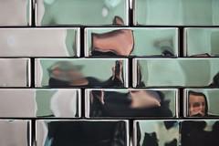 Jeu de l'égo (deux joueurs) (Gerard Hermand) Tags: 1904238393 gerardhermand france paris canon eos5dmarkii oracles jeanmichelothoniel galerieperrotin reflection autoportrait me moi selfportrait reflexion metal brique brick spleen nadia
