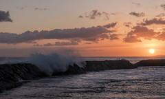 Surfs Up (Fletch in HI) Tags: nikon d5600 tamron 16300 sunset sky sea surfers surf rocks waves water ocean oahu honolulu hawaii magicisland clouds