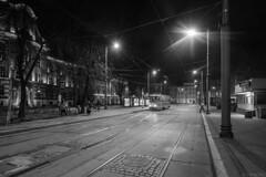Avondrust (Tim Boric) Tags: bytom placsikorskiego avond night tram tramway streetcar strassenbahn interurban vicinal überlandbahn ztm konstal 105na